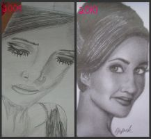 A Year's Difference by pencil-to-papaer