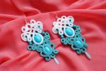 Earrings soutache openwork by GosiaBizu