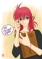 Kurama with glasses by carrot-kingdom