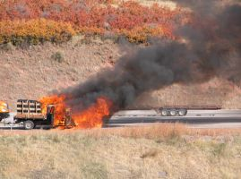 truck caught on fire by cloistering