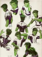 TT-Beastboy Sketches by greeenDudE