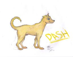Dash the dog- colored by Violet-the-Siberian