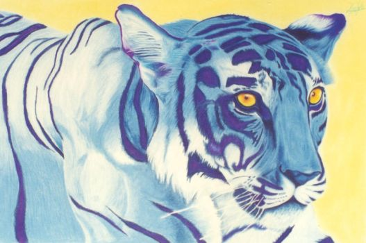 Blue tiger by lievano