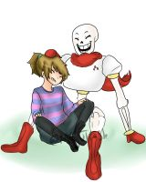 Hanging out with the Great Papyrus! by MeguTrash