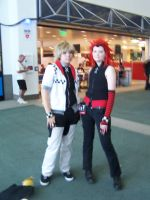 Roxas and Axel at AX08 by Wolf-of-the-Leaf
