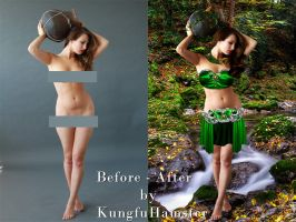 Before - After Nimph by KungfuHamster