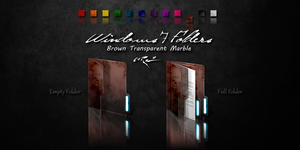 Brown Windows 7 Folders by Drawder