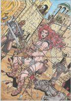 Red Sonja #2 - coloured by conradknightsocks