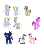 Lot's of Gender-swapped Ponies by TheCheeseburger