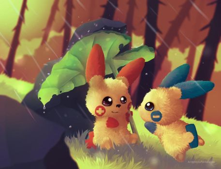 Gift - The first raindrops [+video!] by NezuPanda