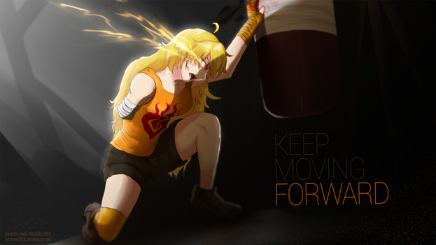 Yang, Keep moving forward - RWBY by kitsune0978
