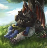 Commission: Meadow Retreat by RalphTheFeline