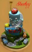 The Cars Cake by 6eki