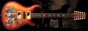 Spirit of the Wolf Guitar PRS by day-seriani