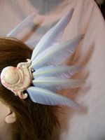 Valkyrie Hair clips white by AmandaKathryn