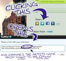 Use Artist's Twitter Name For Twitter Shares by rekit