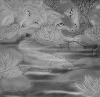 Collab - Water Lillies by Quoosa