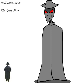 Month of Halloween 1 of 3 - The Gray Man by maxkid1030