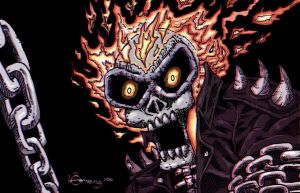 3D Ghost Rider Image by Dinuguan