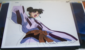 Kagura animation cel from Inuyasha episode 66 by ShizNat4EVER