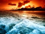 Beach,Wawe and Sunset by SottoPK