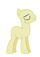 mlp base MALE sad without a chocolate by RainbowShine-Mlp