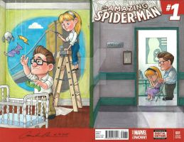 UP Amazing Spider-Man Sketch Cover Mash-Up Part 3 by GuanlinChen