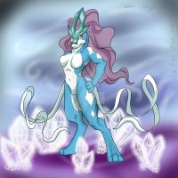 The North Wind: Suicune by Wolfangkun