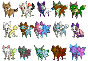 Lots of wolf adoptables by TheBloodyAngels