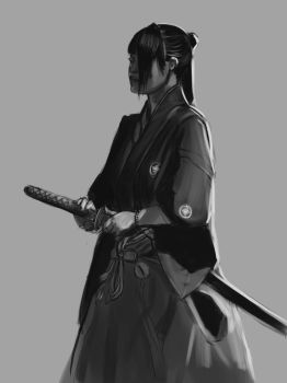 Samurai Study for MaySketchADay Number 20 by AxiDaos