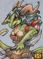 NYOPC - Dragon warrior ACEO by Kamakru