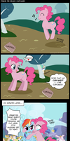 Pinkie Pie Reads Cupcakes by Musapan