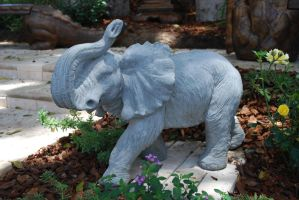 Elephant statue stock by chamberstock