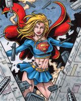 Supergirl Color Art by tonyperna
