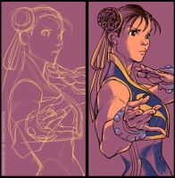 Chun Li digital art by rogercruz