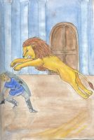 Gawan and the lion by Leeuwtje