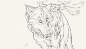 Amaterasu Sketch by Akadafeathers