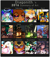 2016 Summary of Art by Dragonith