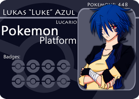 PokePlatform Battle Card:Luke V4 by AzureBlaxis