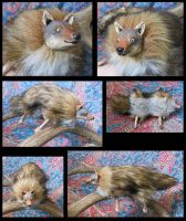Sibyl Wolf - plush art doll by Weavara