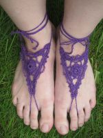 Purple Goddess Barefoot Sandals by PamGabriel