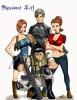 Resident Evil Crew Colored by Ari-Spike-Nadelman