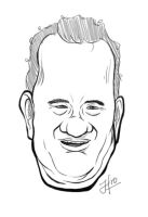 Drawing: Tom Hanks by jinnybear