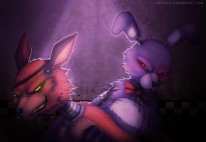 You think you can beat me? (FNAF Fanart) by Neytirix