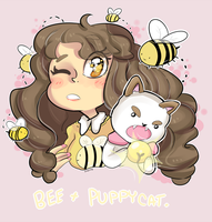 Bee and puppycat by zamii070