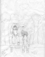 Sittin At the EMO bench by Oddchild69