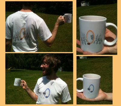Portal Shirt and Mug by squirrelmafia