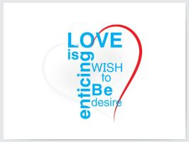Love in typography by syedmaaz