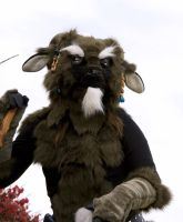My first partial satyr costume by VoodooWolfStudios