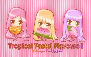 Tropical Pastel Flavours I by gr8zh